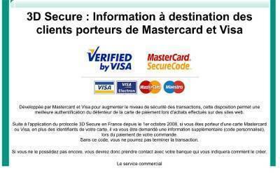 3D Secure : Infos pour Mastercard et Visa